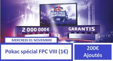 Pokerac Spécial FPC VIII (1€) - 200€ ajoutés