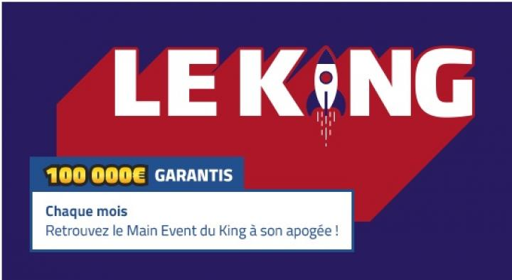 Le King100 de PMU Poker : tournoi flight et 100.000€ garantis