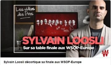 Sylvain Loosli review en vidéo sa table finale du High Roller des WSOP Europe