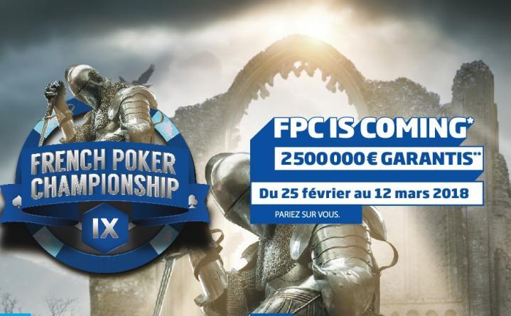 French Poker Championship IX : 2.500.000€ garantis