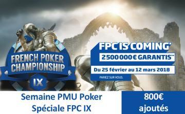 Semaine PMU spéciale FPC IX - 800€ de tickets pour les académiciens !