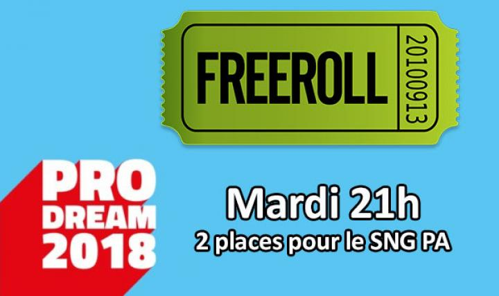 Freeroll qualificatif pour les demi finales PRO Dream