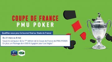 Coupe de France PMU Poker : Gagnez un package WSOP de 4000€