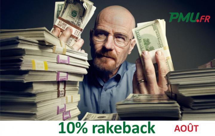 Promo extracash Poker Académie : gagnez 10% de rakeback en août sur PMU