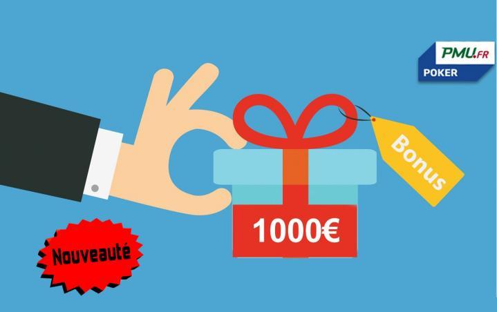 Le nouveau double bonus 1000€ de PMU Poker