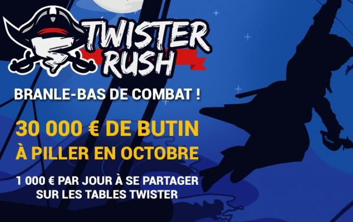 Twister Rush sur Betclic : race de 1000€ à se partager chaque jour en octobre !