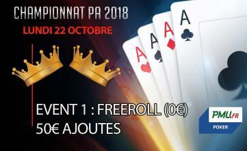 Championnat PA 2018 : Event 1 - Freeroll