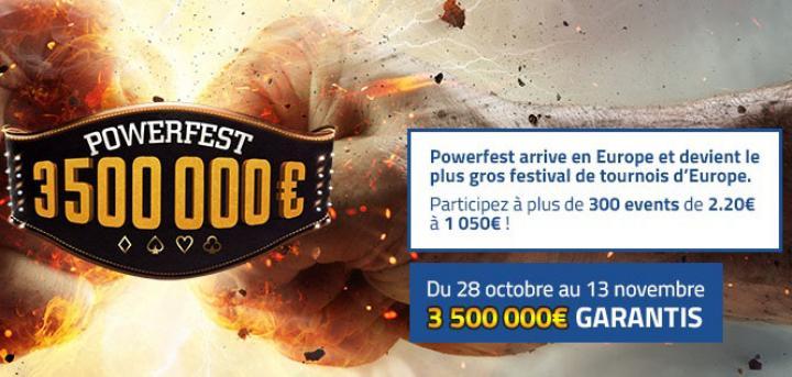 Powerfest : 3.500.000€ garantis sur PMU et Party Poker