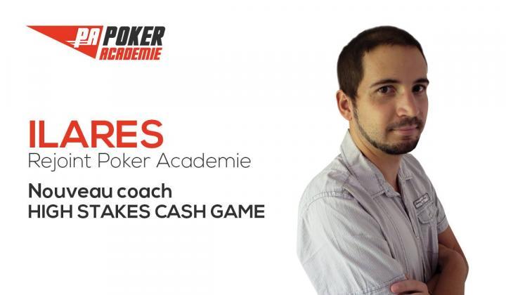 Ilares rejoint la team Poker Académie !