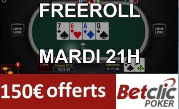 Cheaproll (1€) mardi soir sur Betclic - 150€ de tickets ajoutés