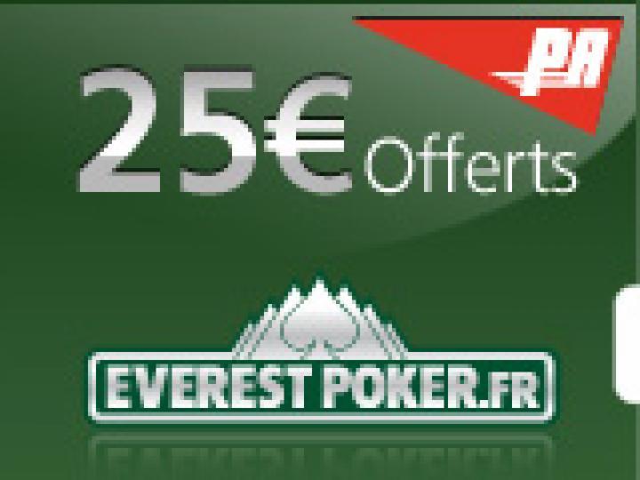 25€ offerts sur Everest