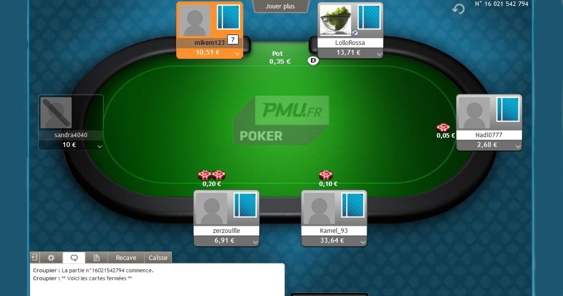 Bonus 1er depot pmu poker