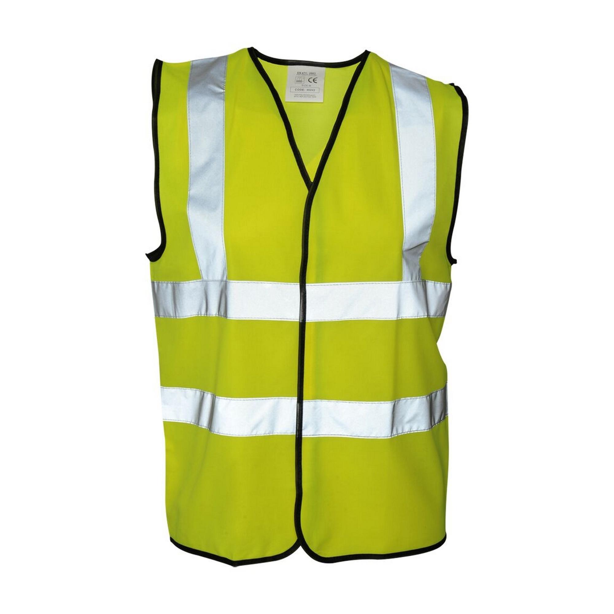 Absolute Apparel Mens Hi Vis Waistcoat (3XL) (Saturn Yellow)