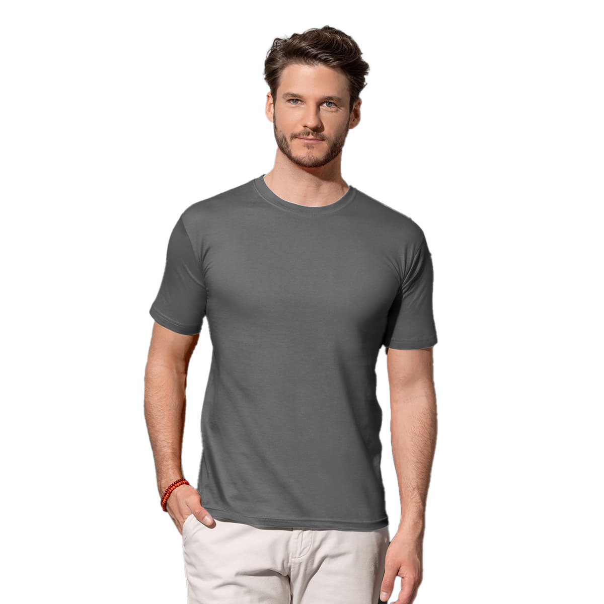 Stedman Mens Classic Fitted Tee (M) (Heather Grey)
