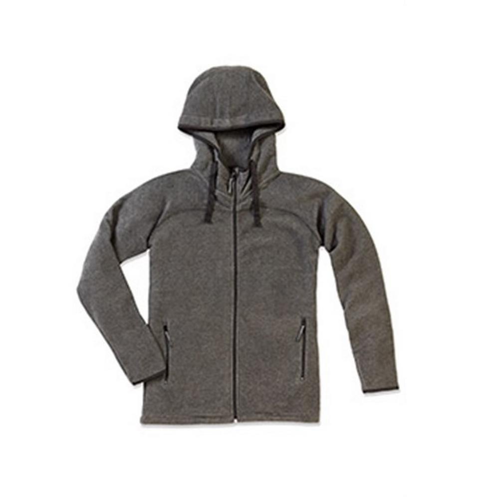 Stedman Mens Active Power Fleece Jacket (L) (Anthra Heather Grey)