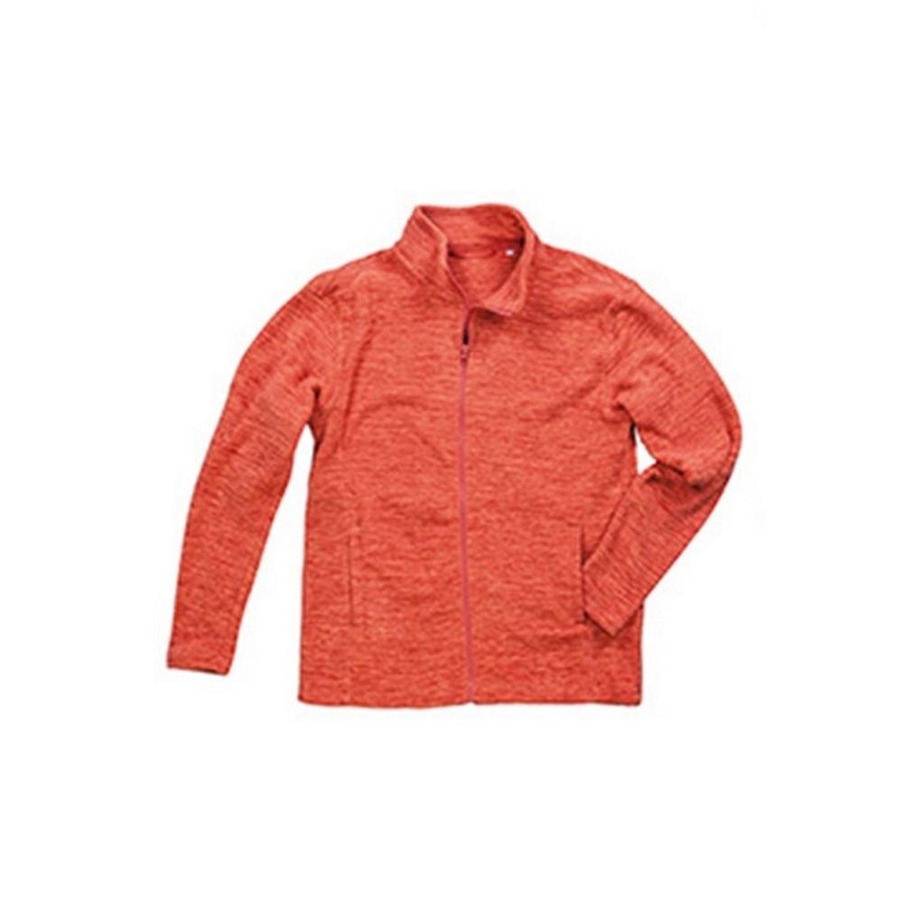 Stedman Mens Active Melange Fleece Jacket (M) (Pumpkin Melange)