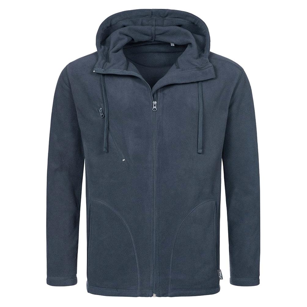 Stedman Mens Active Hooded Fleece Jacket (M) (Blue Midnight)