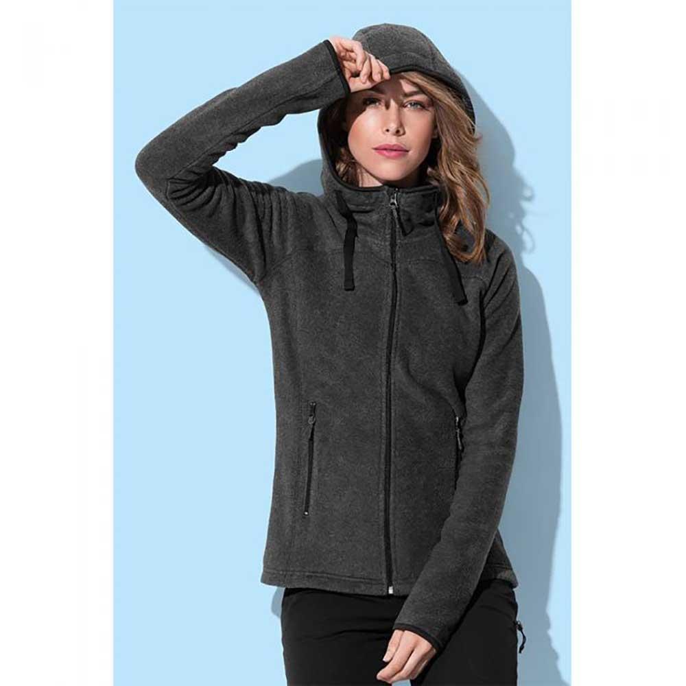 Stedman Womens/Ladies Active Power Fleece Jacket (M) (Heather Grey)