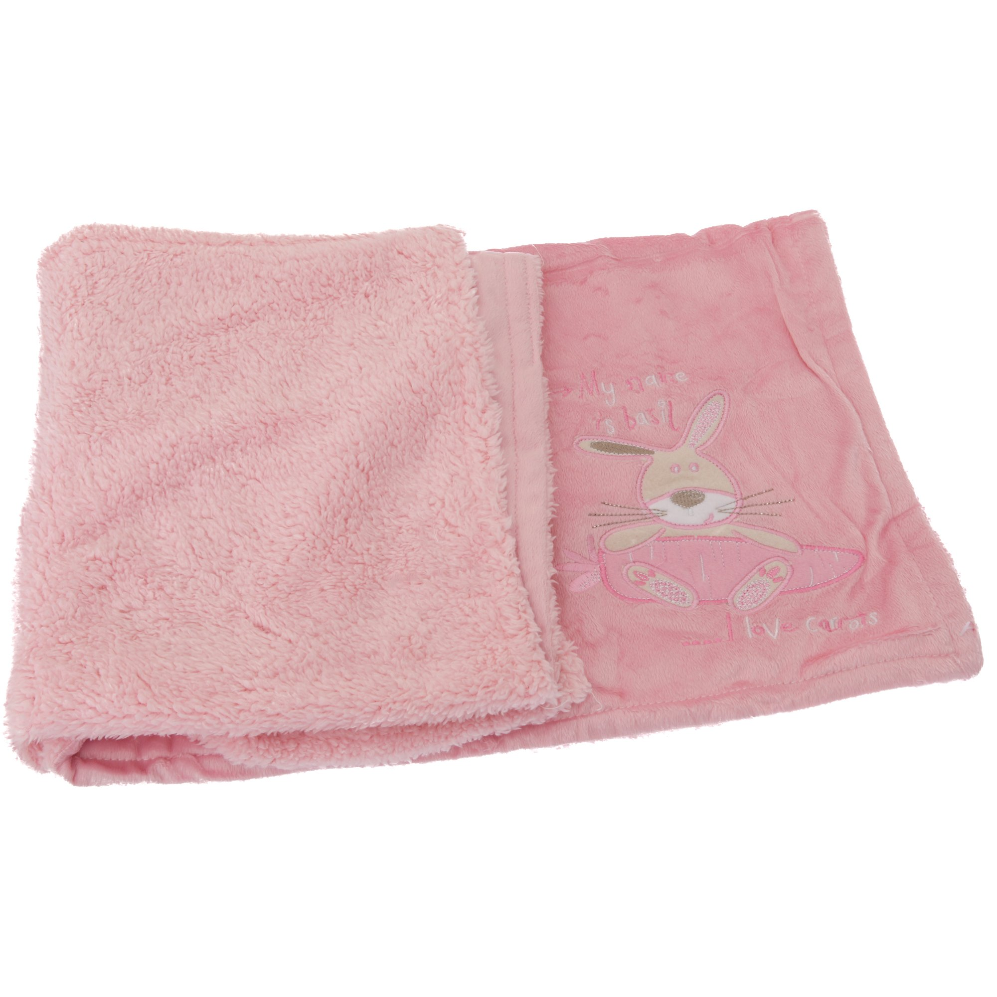 Baby Bunny Design Super Soft Fluffy Feel Pram Blanket | eBay