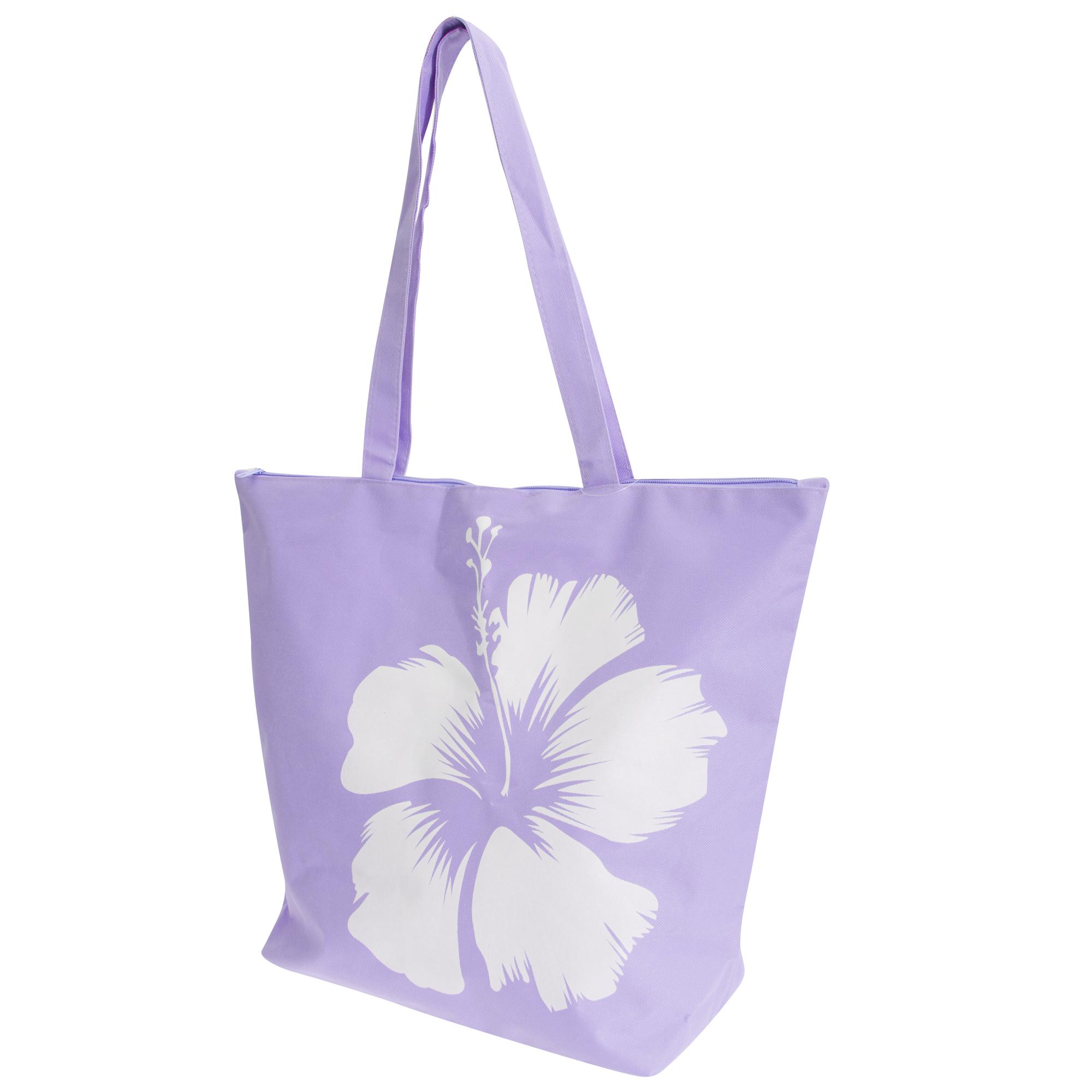 FLOSO Womens/Ladies Hawaiian Flower Summer Handbag (One Size) (Purple)