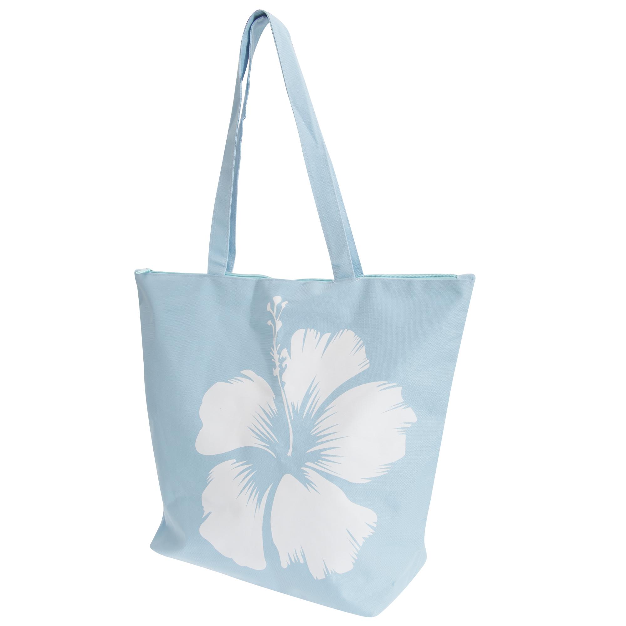 FLOSO Womens/Ladies Hawaiian Flower Summer Handbag (One Size) (Blue)