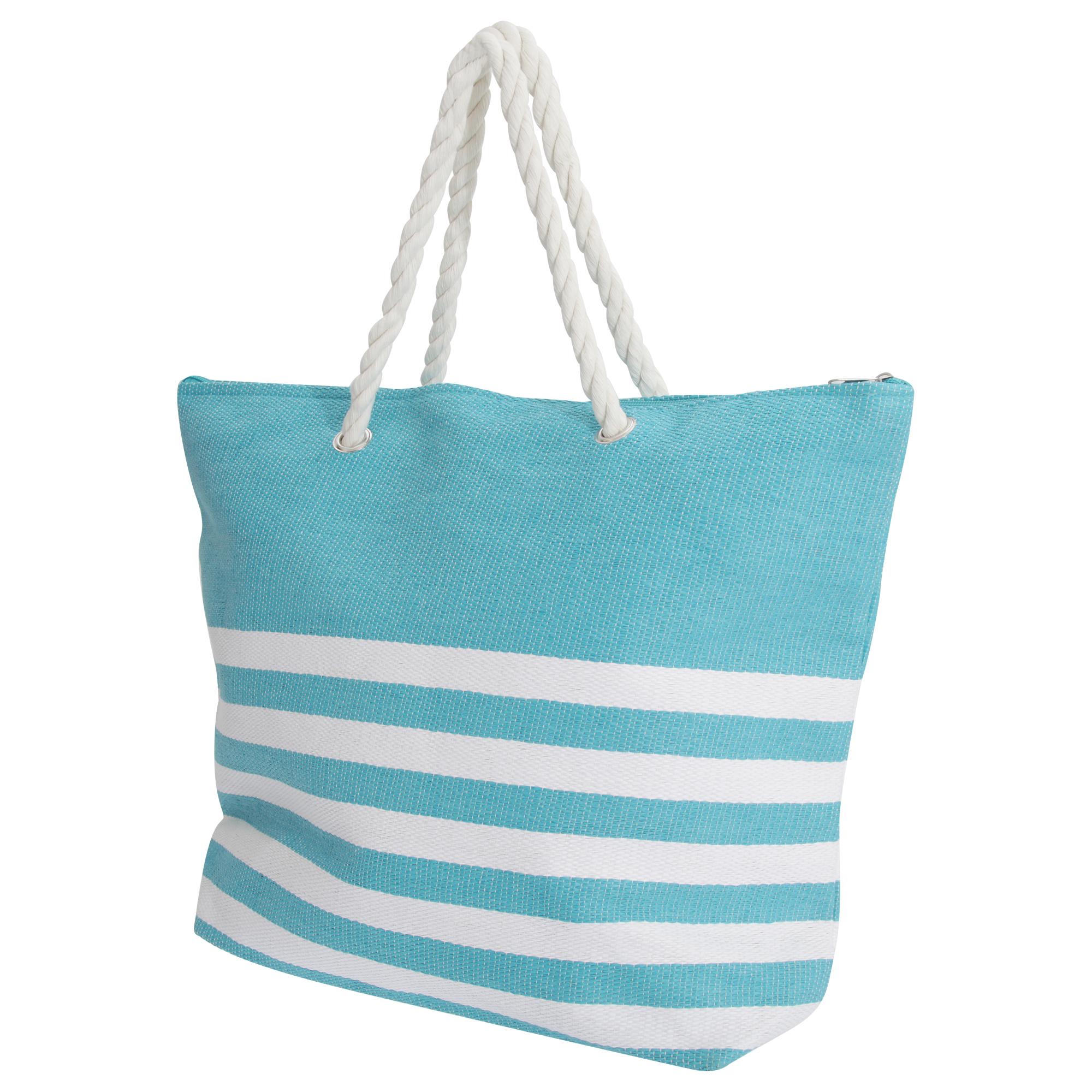 FLOSO-Damen-Sommer-Stroh-Handtasche-mit-Streifenmuster-BAG208