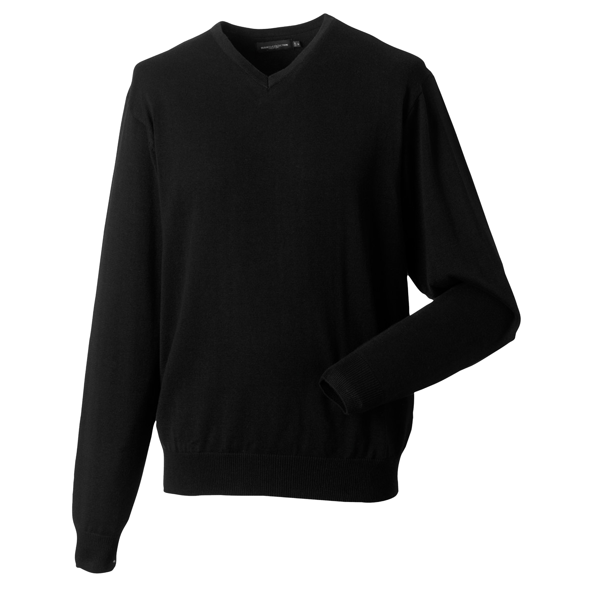 miniature 16 - Russell Collection - Pullover à col en V - Homme (XS-4XL) 2 couleurs (BC1012)