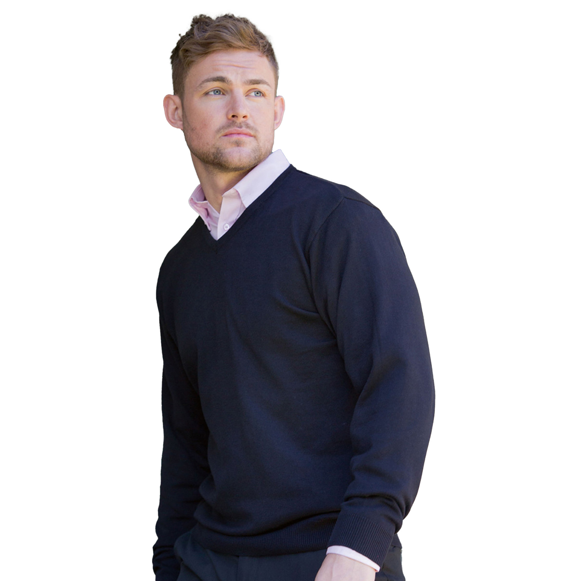 miniature 5 - Russell Collection - Pullover à col en V - Homme (XS-4XL) 2 couleurs (BC1012)