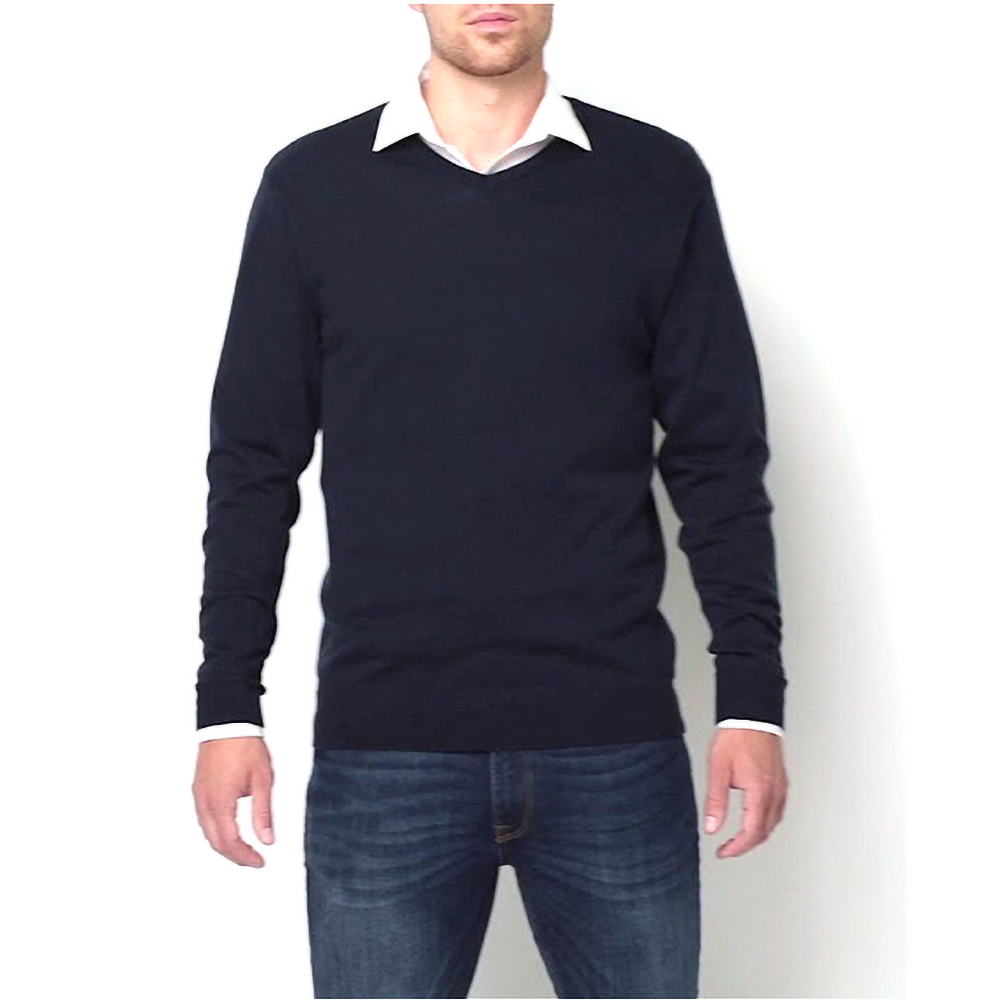 miniature 6 - Russell Collection - Pullover à col en V - Homme (XS-4XL) 2 couleurs (BC1012)