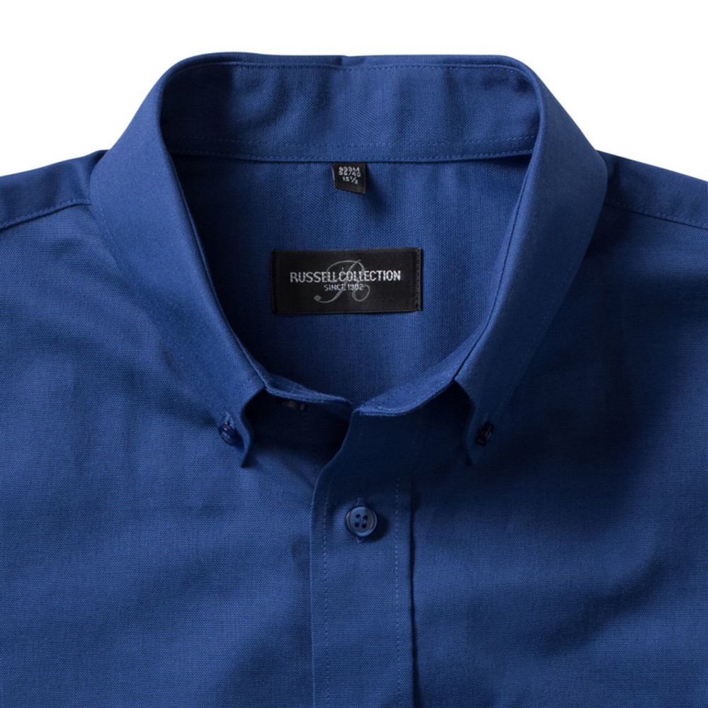 Russell Collection Mens Short Sleeve Easy Care Oxford Shirt (14.5inch) (Bright Royal)