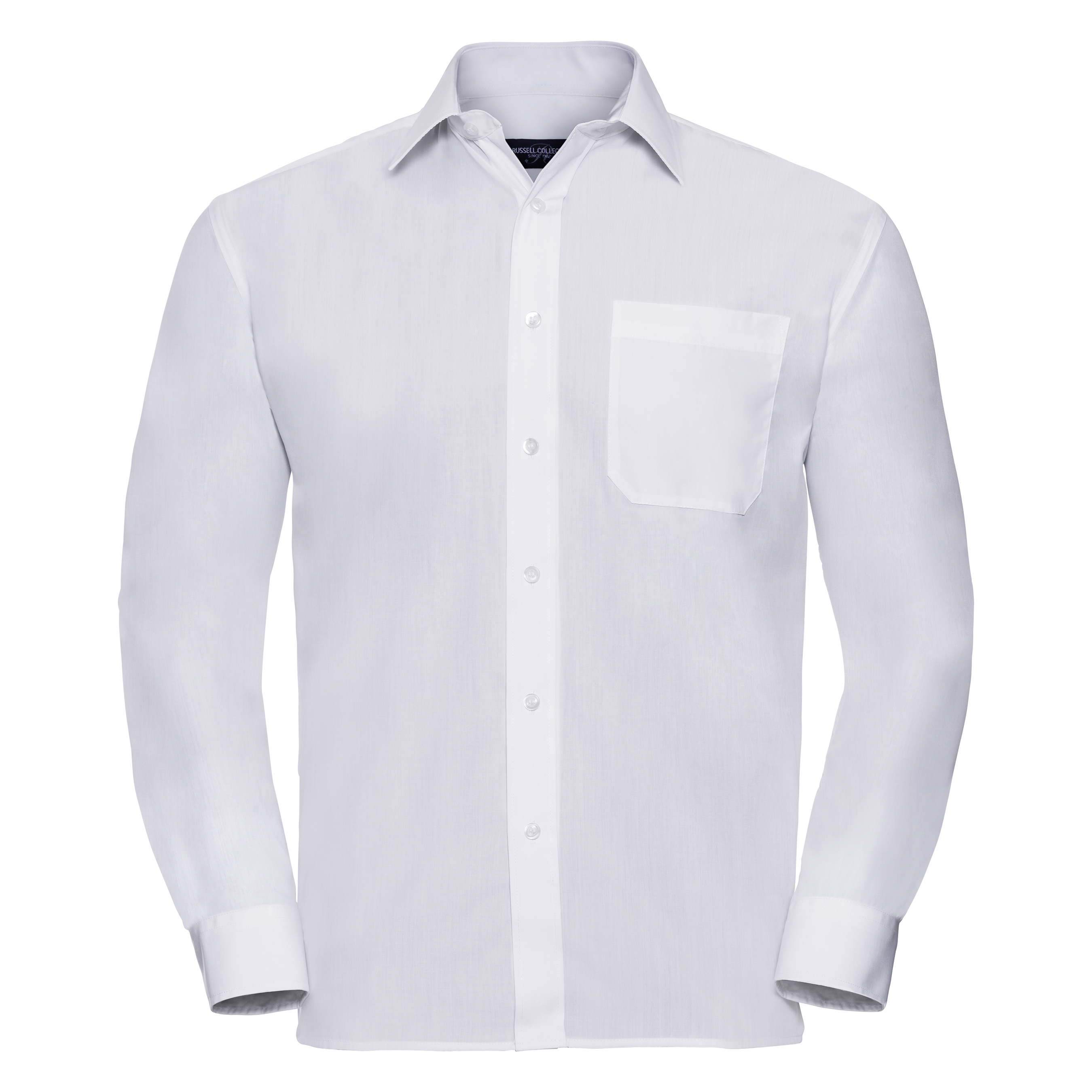 Russell Collection Mens Long Sleeve Shirt (18) (White)