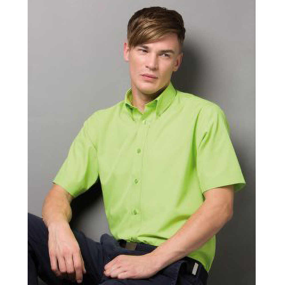Russell-Collection-Mens-Short-Sleeve-Poly-Cotton-Easy-Care-Poplin-Work-BC1029 thumbnail 5