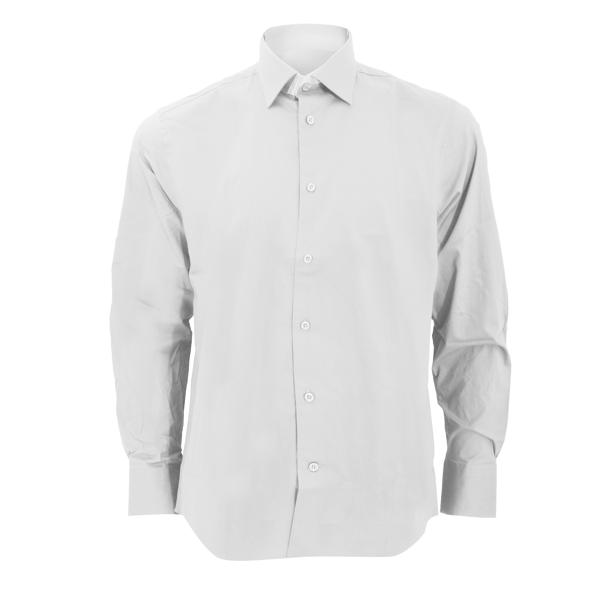 Russell Collection Mens Long Sleeve Easy Care Fitted Shirt (14.5) (White)