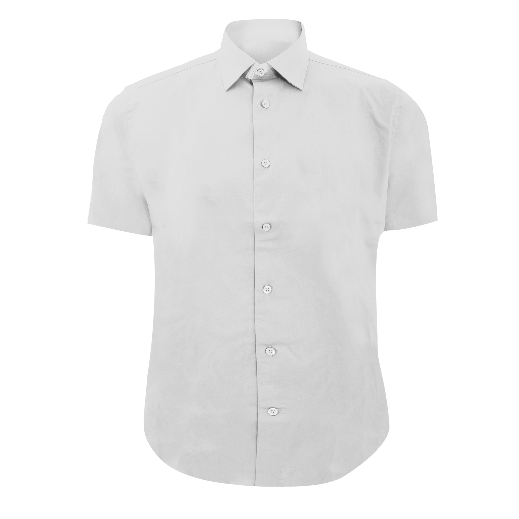 Russell Collection Mens Short Sleeve Easy Care Fitted Shirt (14.5) (White)
