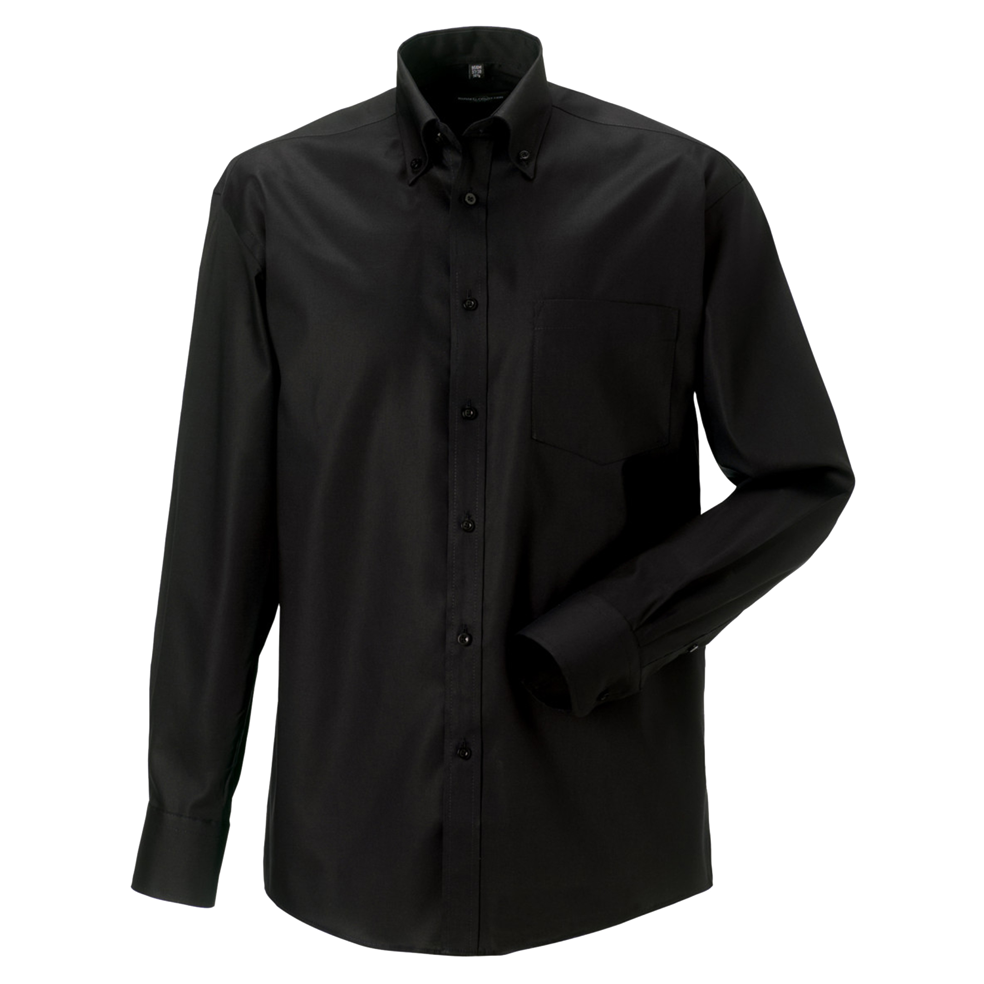 Russell Collection Mens Long Sleeve Ultimate Non-Iron Shirt (18inch) (Black)