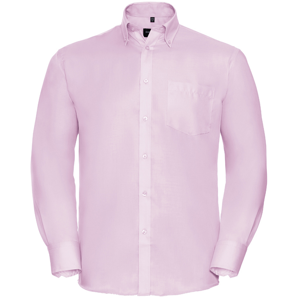 Russell Collection Mens Long Sleeve Ultimate Non-Iron Shirt (19.5inch) (Classic Pink)