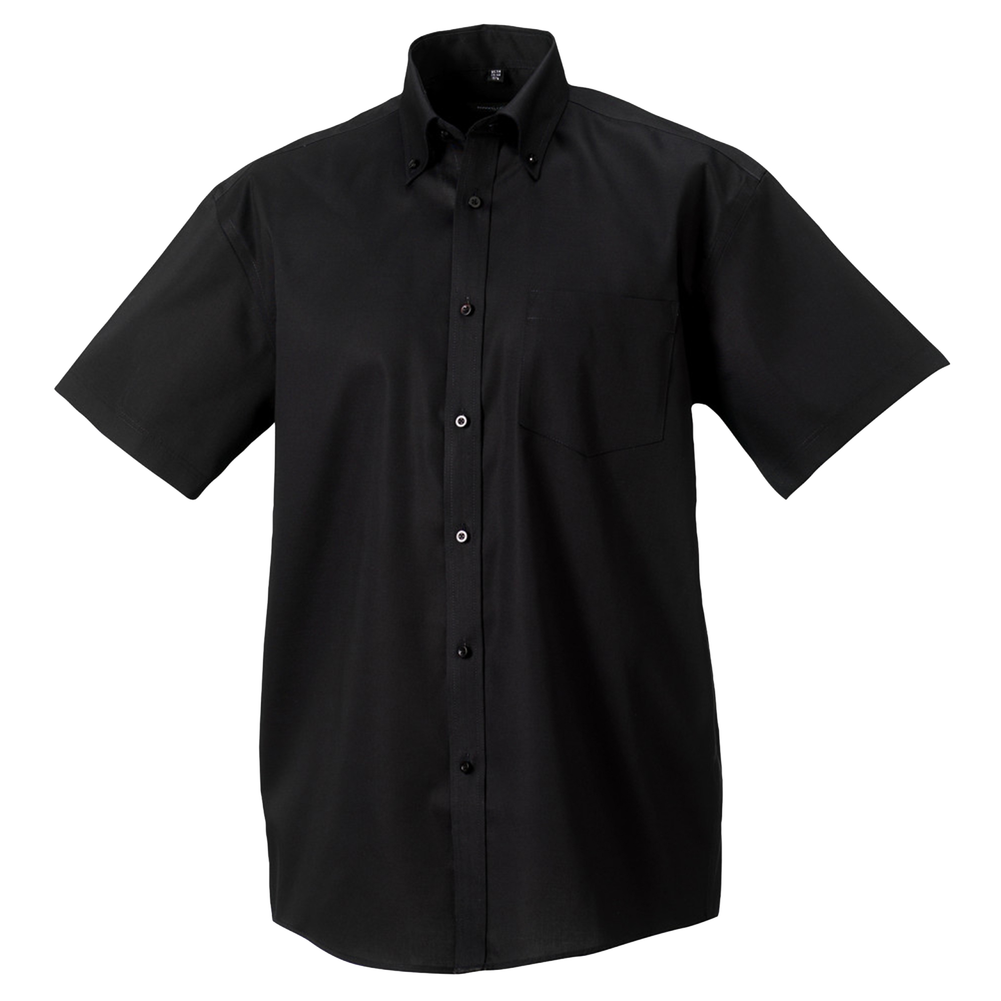 Russell Collection Mens Short Sleeve Ultimate Non-Iron Shirt (16.5inch) (Black)