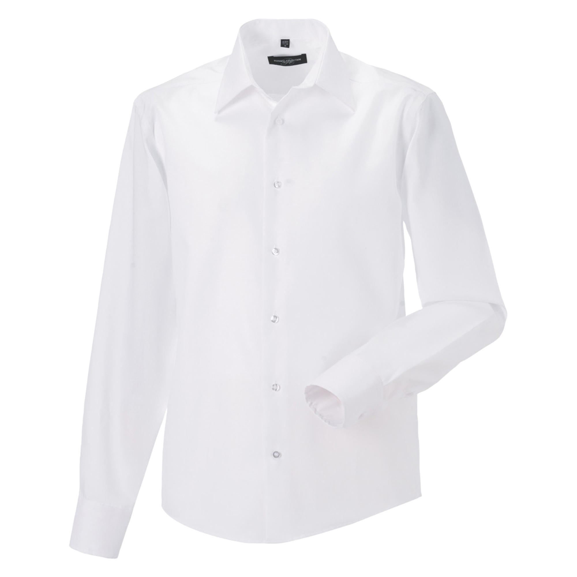 Russell Collection Mens Long Sleeve Tailored Ultimate Non-Iron Shirt (19.5inch) (White)