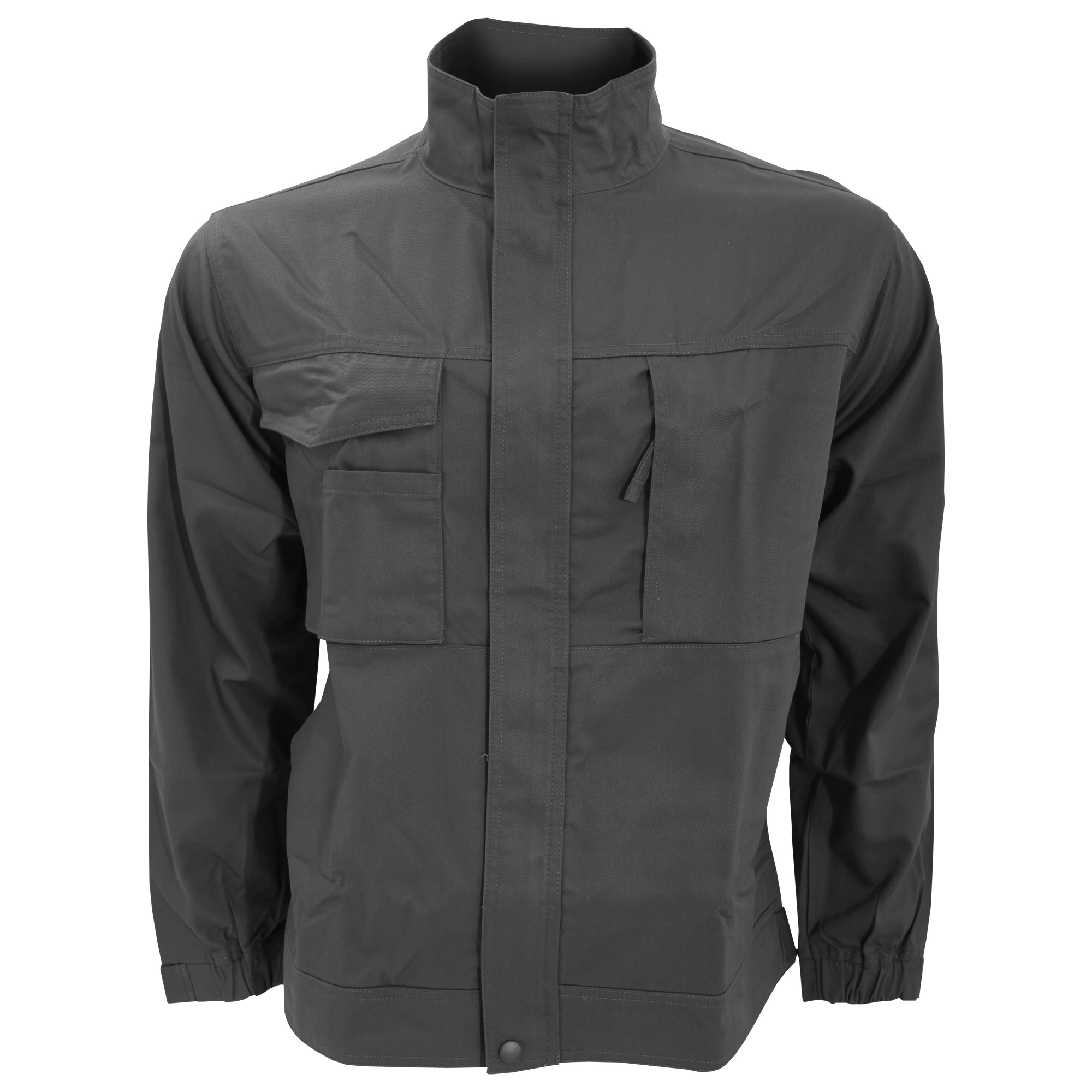 a0f152be1 Details about Russell Workwear Mens Plain Casual Zip up Twill Work Jacket  /Coat (6 (BC1047)