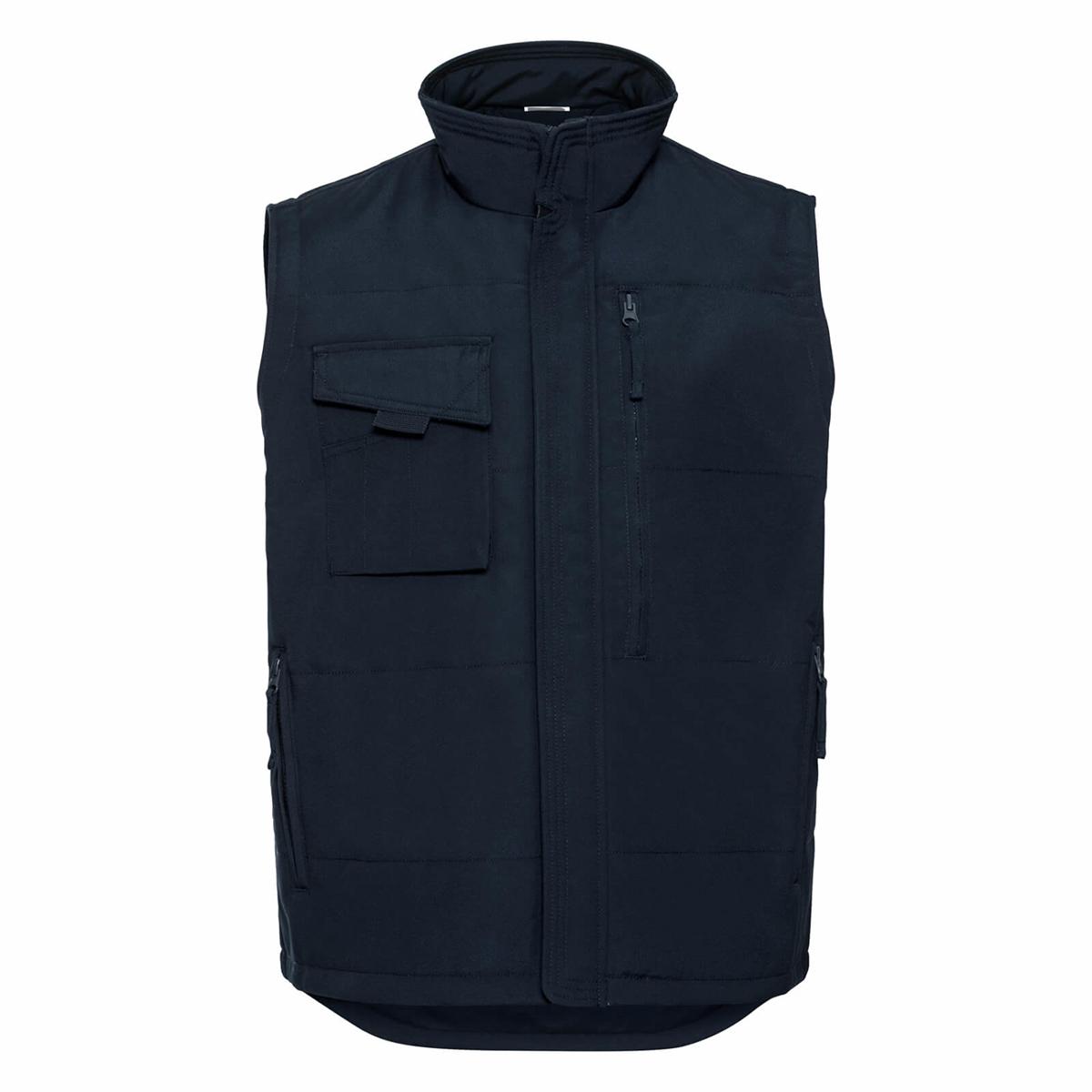 Russell Mens Workwear Gilet Jacket (4XL) (Bottle Green)