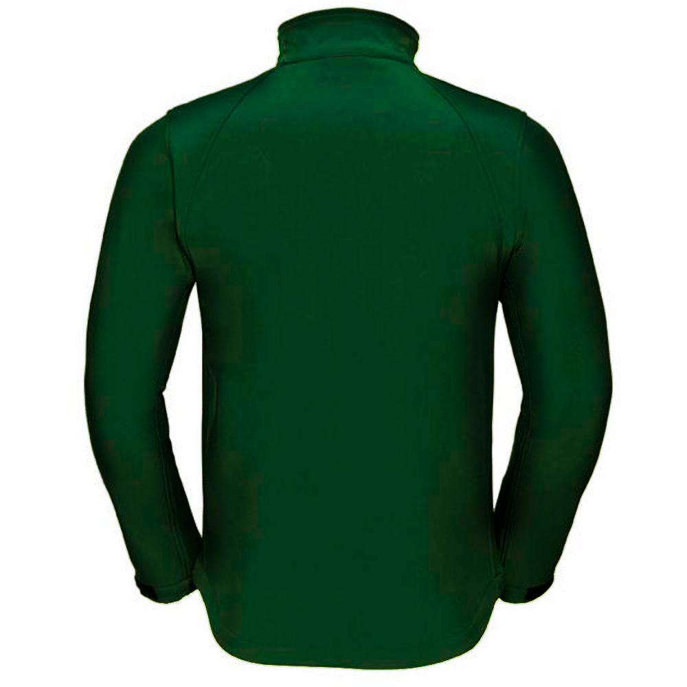 Russell Workwear Mens Softshell Breathable  Waterproof Membrane Jacket (L) (Black)
