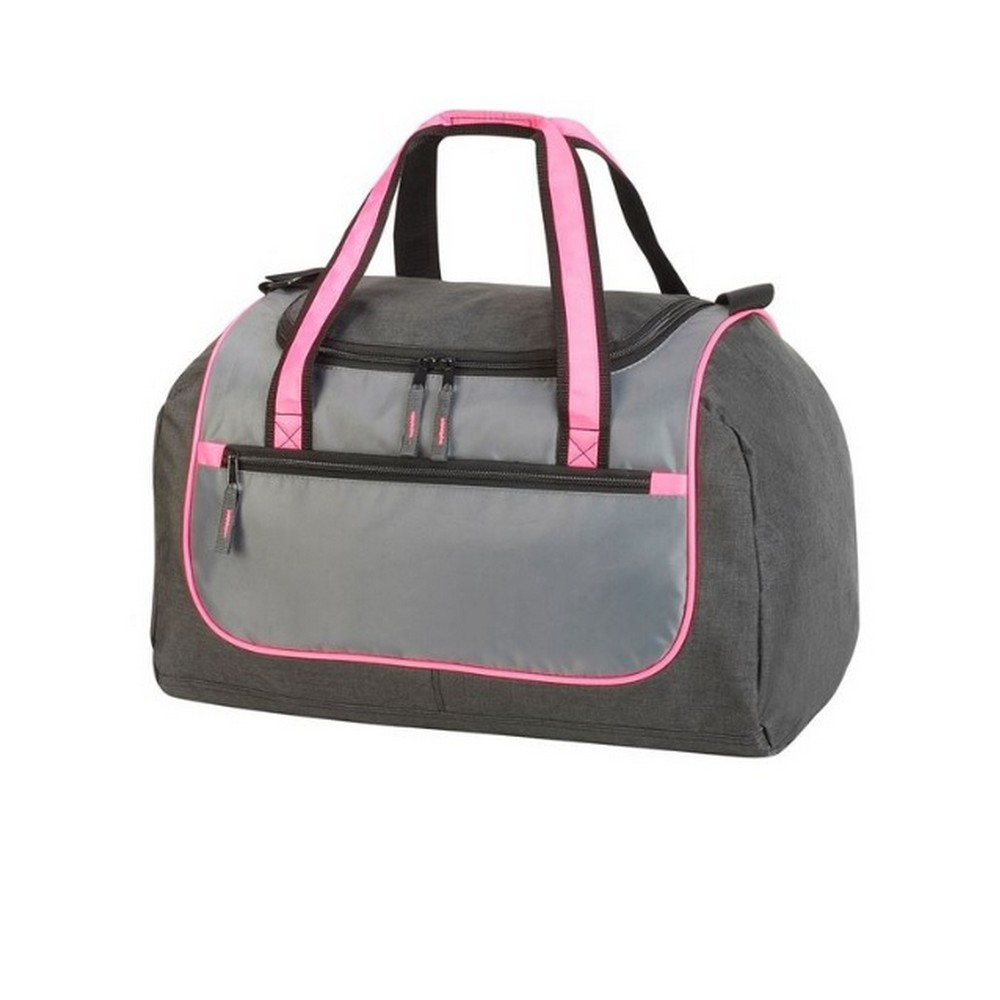 Shugon Rhodes Sports Holdall Duffle Bag (36 Litres) (One Size) (Silver/Charcoal/Hot Pink)
