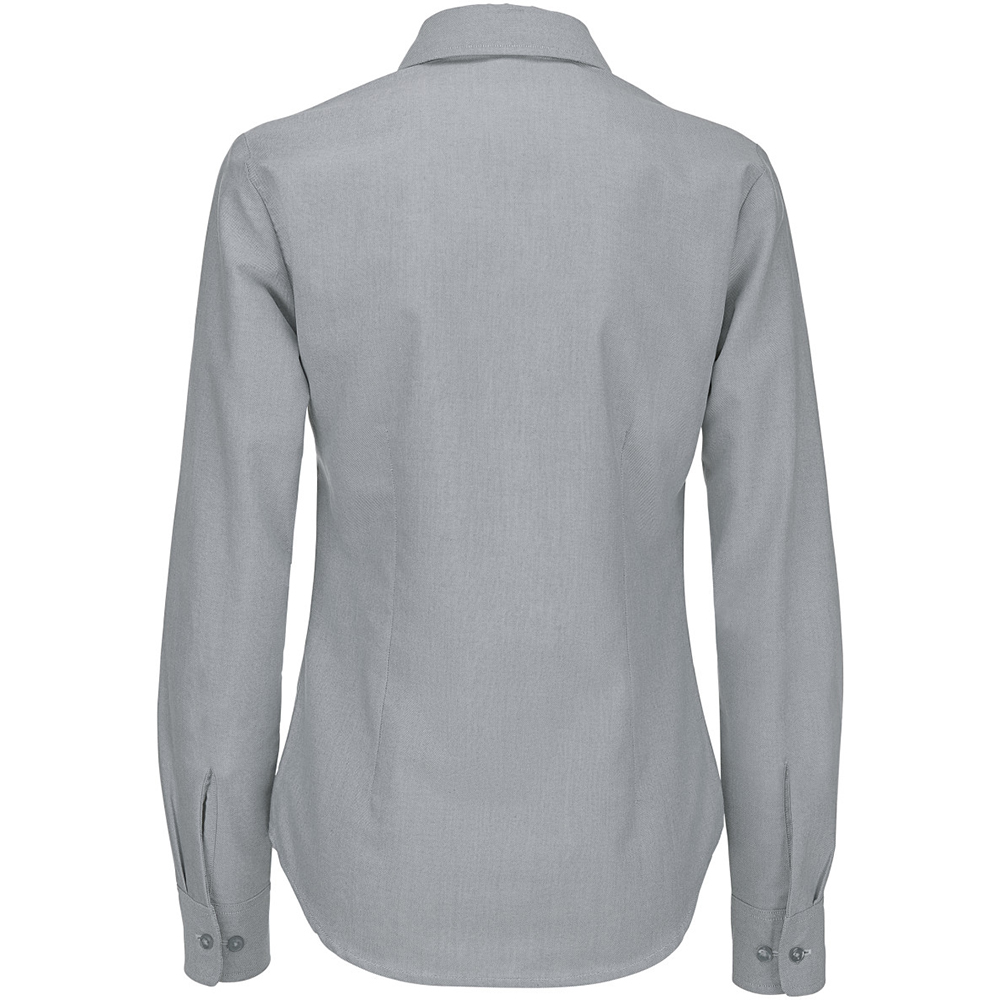 B-amp-C-Ladies-Oxford-Long-Sleeve-Shirt-Ladies-Shirts-amp-Blouses-BC115