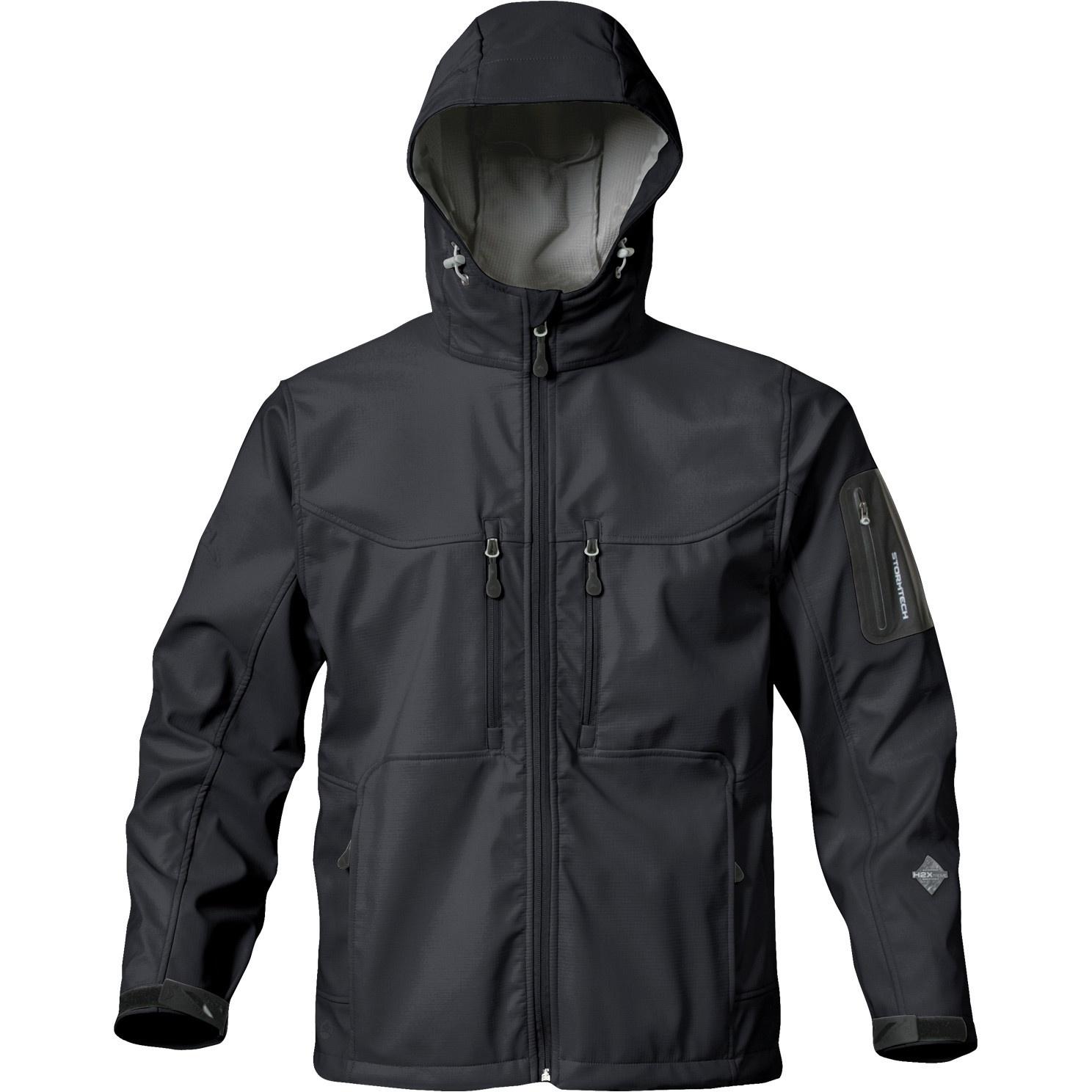 Stormtech Mens Premium Epsilon H2xtreme Water Resistant Breathable Jacket (2XL) (Black)