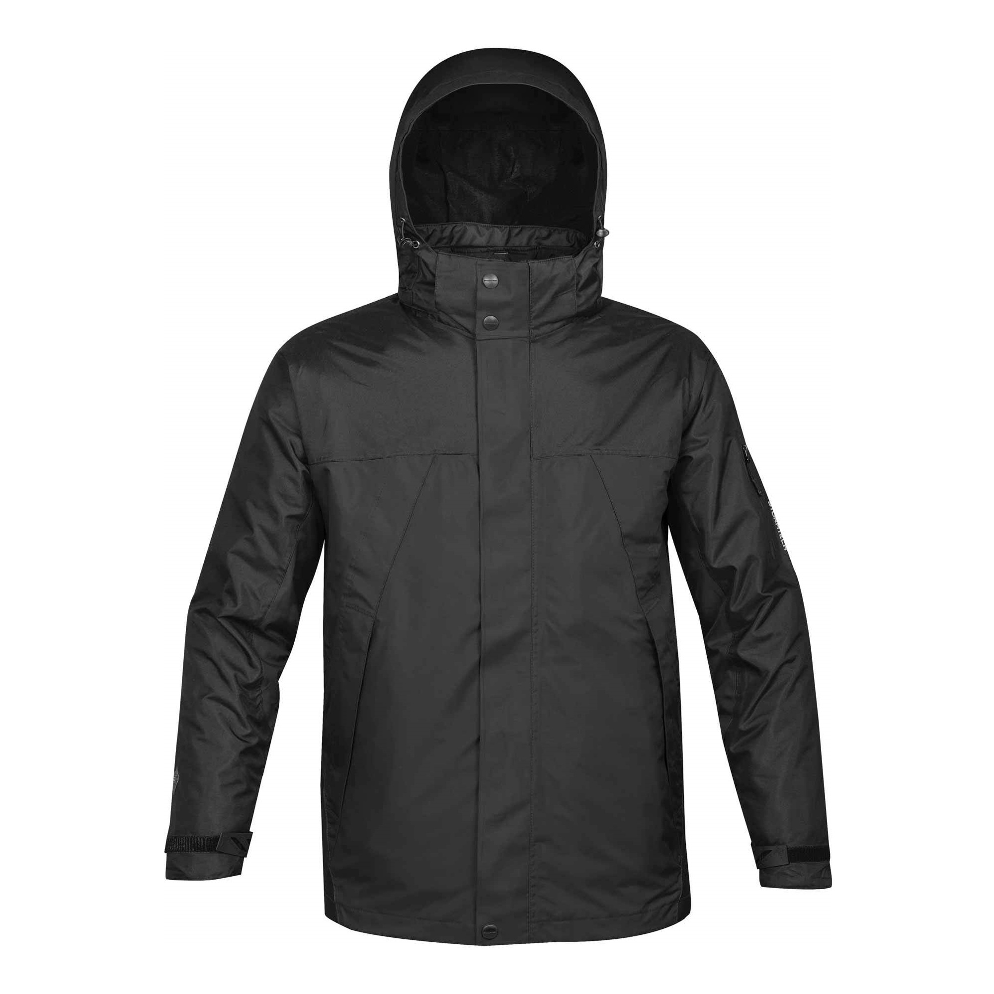 Stormtech Mens Fusion 5 In 1 System Parka Hooded Waterproof Breathable Jacket (3XL) (Black/Black)