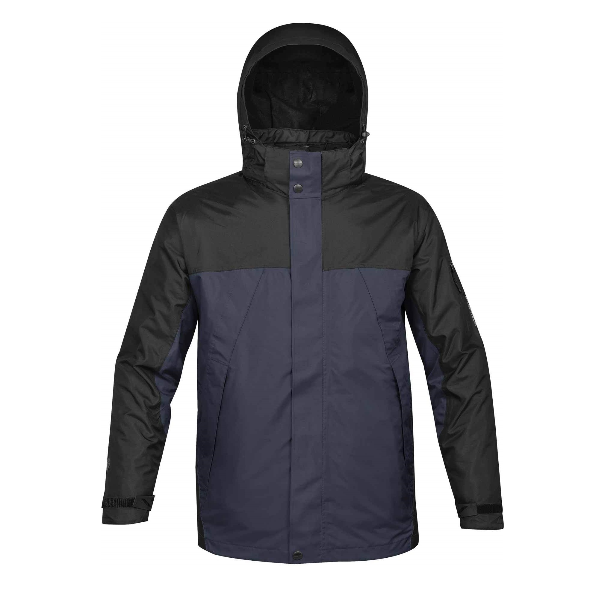 Stormtech Mens Fusion 5 In 1 System Parka Hooded Waterproof Breathable Jacket (XL) (Navy/Black)