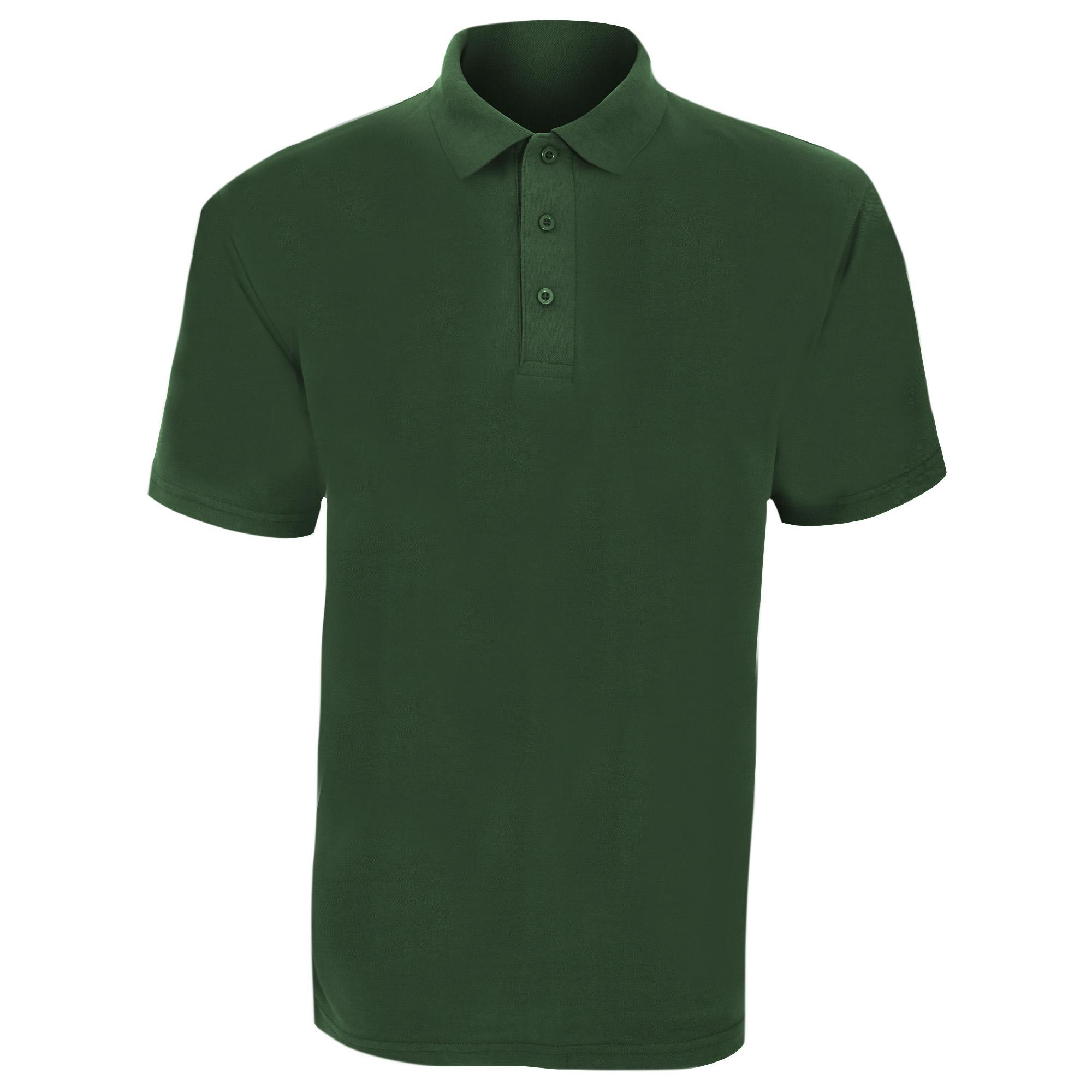 UCC 50/50 Mens Plain Piqué Short Sleeve Polo Shirt (3XL) (Bottle Green)