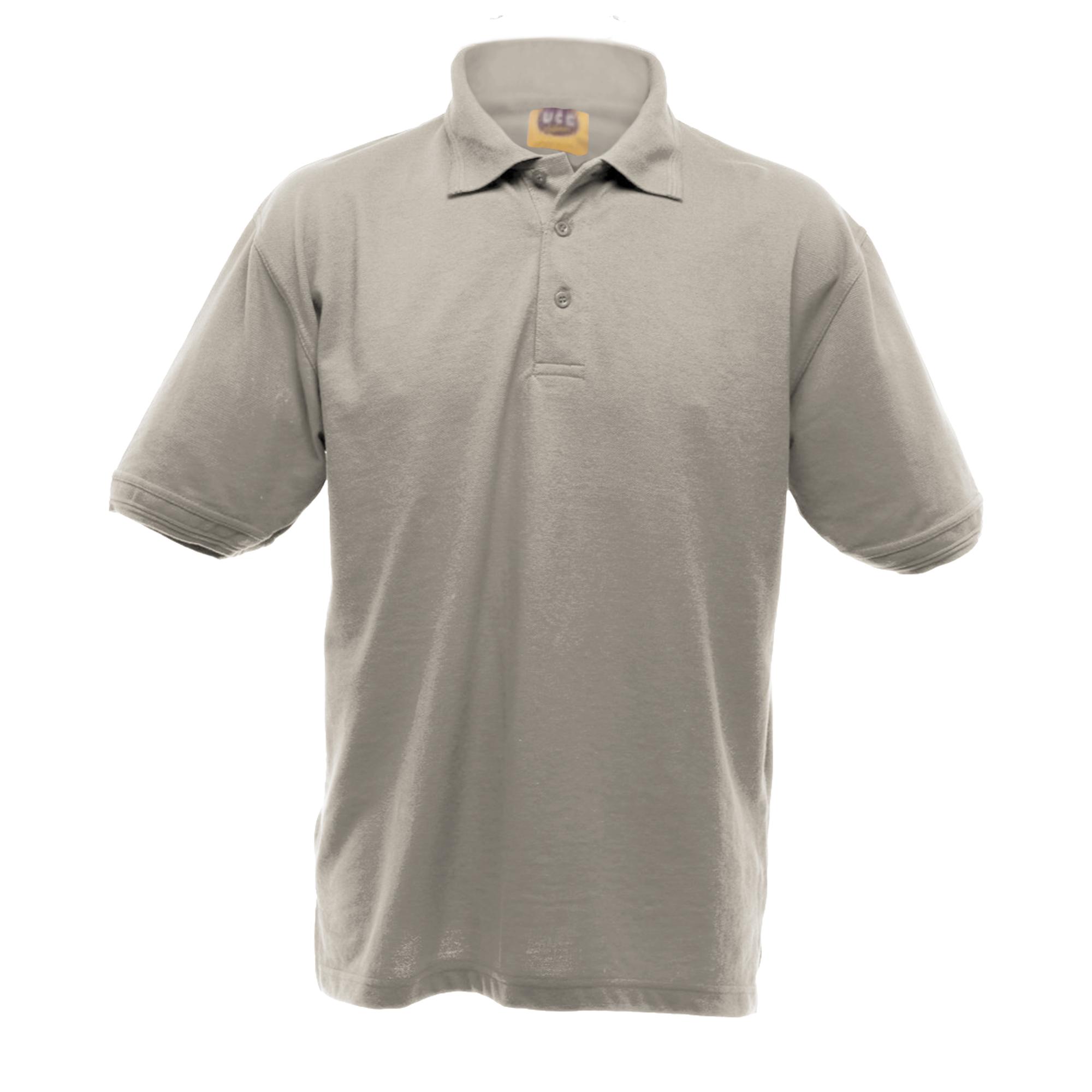UCC 50/50 Mens Heavyweight Plain Pique Short Sleeve Polo Shirt (XL) (Black)