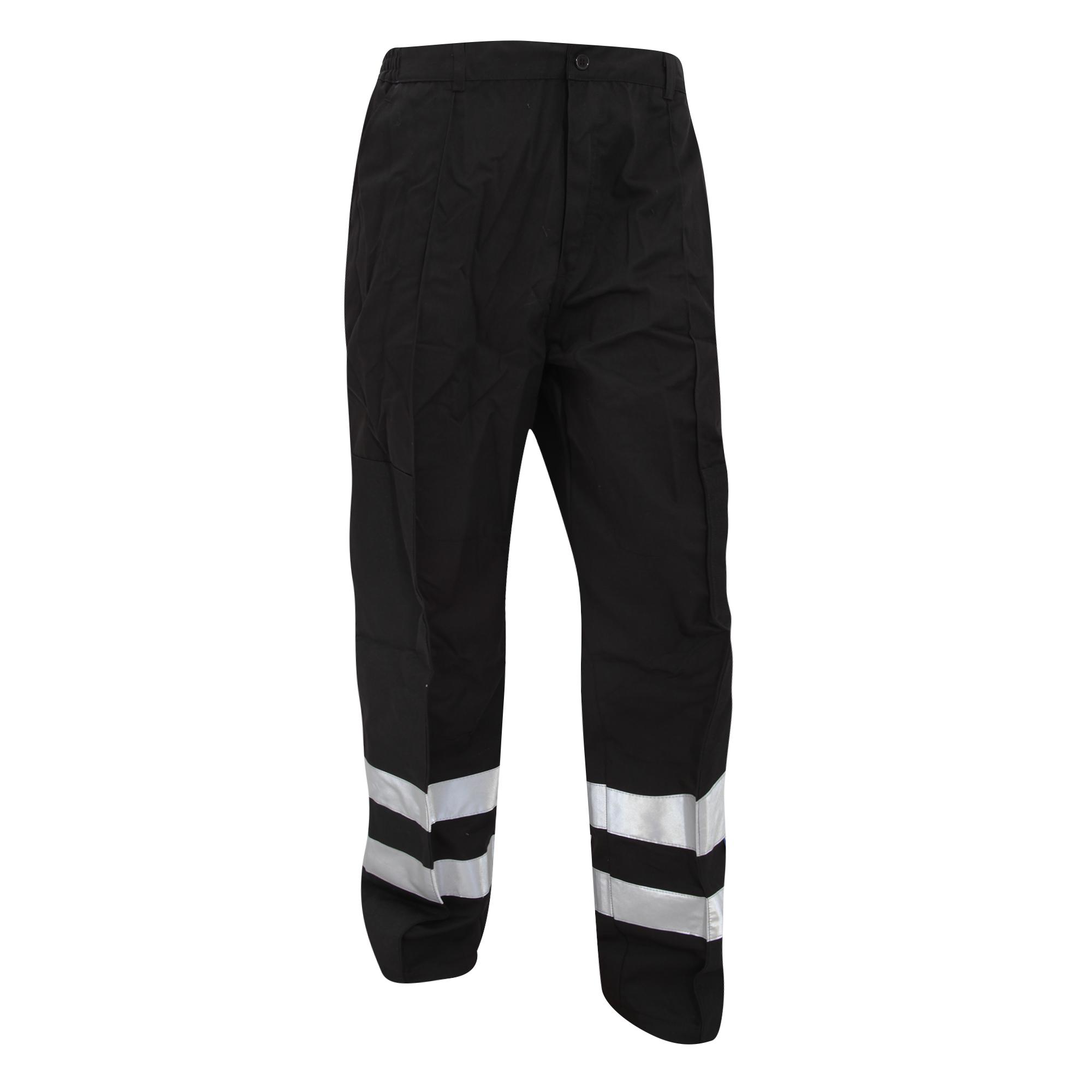 Yoko Mens Reflective Ballistic Trousers (Regular) / Hi Vis Workwear (36W x Regular) (Black)