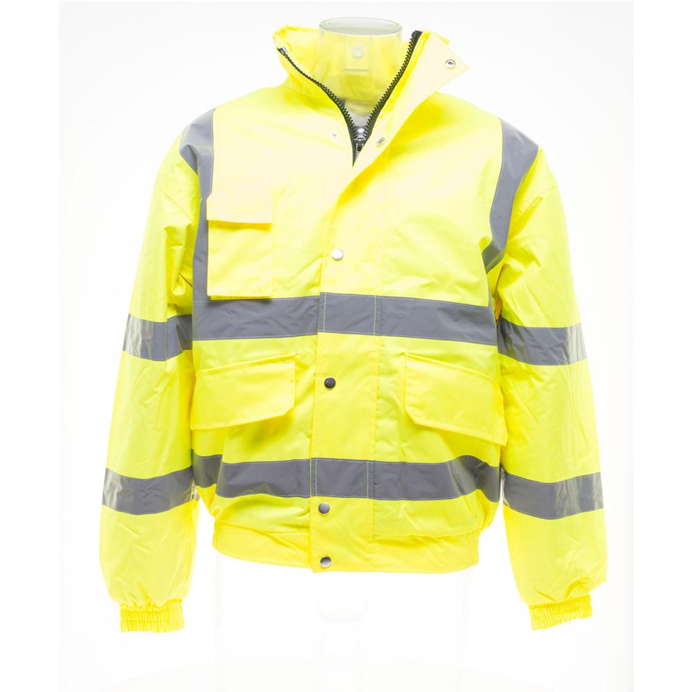 Yoko Mens Hi-Vis Bomber Jacket (M) (Hi-Vis Yellow)
